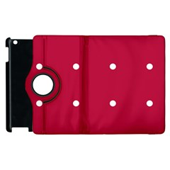 Red Dot Apple Ipad 2 Flip 360 Case by snowwhitegirl