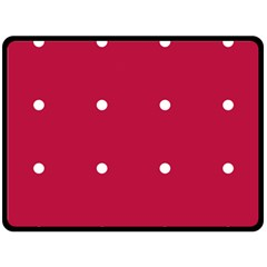 Red Dot Double Sided Fleece Blanket (large)  by snowwhitegirl