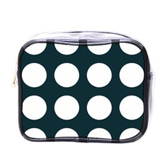 Big Dot Teal Blue Mini Toiletries Bags by snowwhitegirl