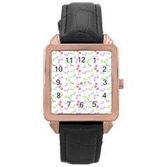Candy Cherries Rose Gold Leather Watch