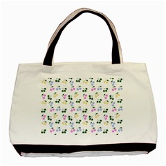 Green Cherries Basic Tote Bag by snowwhitegirl