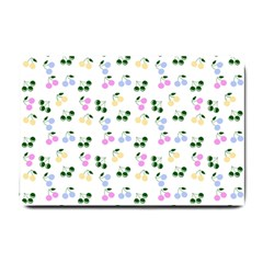 Green Cherries Small Doormat  by snowwhitegirl