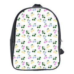 Green Cherries School Bag (xl) by snowwhitegirl