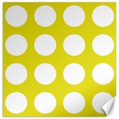Big Dot Yellow Canvas 12  X 12   by snowwhitegirl