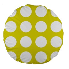 Big Dot Yellow Large 18  Premium Flano Round Cushions by snowwhitegirl