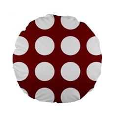 Big Dot Red Standard 15  Premium Round Cushions