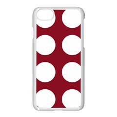 Big Dot Red Apple Iphone 7 Seamless Case (white) by snowwhitegirl