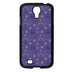 Music Stars Blue Samsung Galaxy S4 I9500/ I9505 Case (black) by snowwhitegirl
