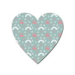 Music Stars Sky Blue Heart Magnet by snowwhitegirl