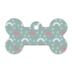 Music Stars Sky Blue Dog Tag Bone (two Sides) by snowwhitegirl