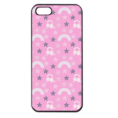Music Star Pink Apple Iphone 5 Seamless Case (black) by snowwhitegirl