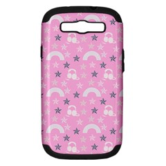 Music Star Pink Samsung Galaxy S Iii Hardshell Case (pc+silicone) by snowwhitegirl