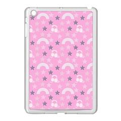 Music Star Pink Apple Ipad Mini Case (white) by snowwhitegirl