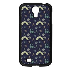 Music Stars Dark Teal Samsung Galaxy S4 I9500/ I9505 Case (black) by snowwhitegirl