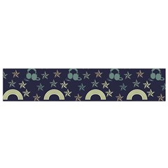 Music Stars Dark Teal Small Flano Scarf by snowwhitegirl