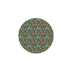 Music Stars Grass Green Golf Ball Marker (4 Pack) by snowwhitegirl