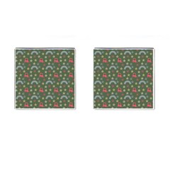 Music Stars Grass Green Cufflinks (square) by snowwhitegirl
