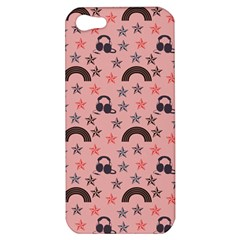 Music Stars Peach Apple Iphone 5 Hardshell Case by snowwhitegirl