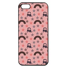 Music Stars Peach Apple Iphone 5 Seamless Case (black) by snowwhitegirl