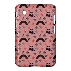 Music Stars Peach Samsung Galaxy Tab 2 (7 ) P3100 Hardshell Case  by snowwhitegirl
