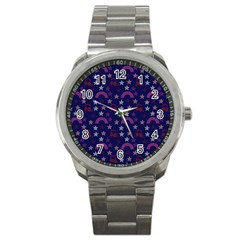 Music Stars Navy Sport Metal Watch by snowwhitegirl
