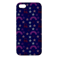Music Stars Navy Apple Iphone 5 Premium Hardshell Case by snowwhitegirl