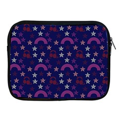 Music Stars Navy Apple Ipad 2/3/4 Zipper Cases