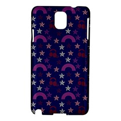 Music Stars Navy Samsung Galaxy Note 3 N9005 Hardshell Case by snowwhitegirl