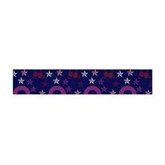 Music Stars Navy Flano Scarf (mini) by snowwhitegirl