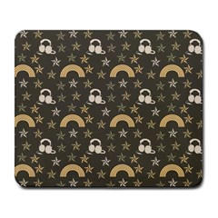 Music Stars Grey Large Mousepads by snowwhitegirl