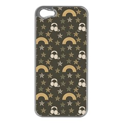 Music Stars Grey Apple Iphone 5 Case (silver) by snowwhitegirl