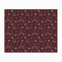 Music Stars Brown Small Glasses Cloth (2 Side) by snowwhitegirl