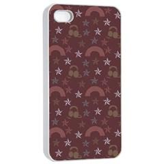 Music Stars Brown Apple Iphone 4/4s Seamless Case (white) by snowwhitegirl