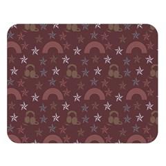 Music Stars Brown Double Sided Flano Blanket (large)  by snowwhitegirl