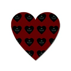 Cupcake Blood Red Black Heart Magnet by snowwhitegirl