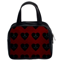 Cupcake Blood Red Black Classic Handbags (2 Sides) by snowwhitegirl
