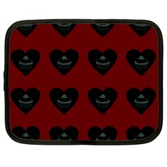 Cupcake Blood Red Black Netbook Case (xl)  by snowwhitegirl
