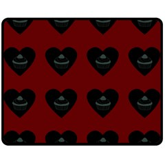 Cupcake Blood Red Black Fleece Blanket (medium)  by snowwhitegirl