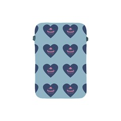 Cupcake Heart Teal Blue Apple Ipad Mini Protective Soft Cases by snowwhitegirl