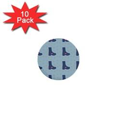 Deer Boots Teal Blue 1  Mini Buttons (10 Pack)  by snowwhitegirl
