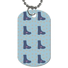 Deer Boots Teal Blue Dog Tag (one Side) by snowwhitegirl