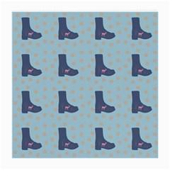 Deer Boots Teal Blue Medium Glasses Cloth by snowwhitegirl