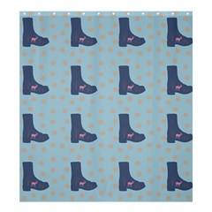 Deer Boots Teal Blue Shower Curtain 66  X 72  (large)  by snowwhitegirl