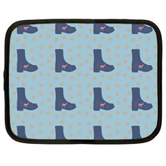 Deer Boots Teal Blue Netbook Case (xl)  by snowwhitegirl