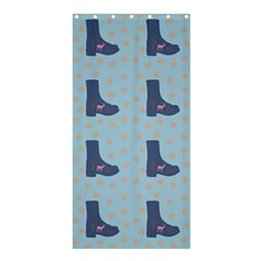 Deer Boots Teal Blue Shower Curtain 36  X 72  (stall)  by snowwhitegirl