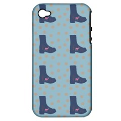 Deer Boots Teal Blue Apple Iphone 4/4s Hardshell Case (pc+silicone) by snowwhitegirl