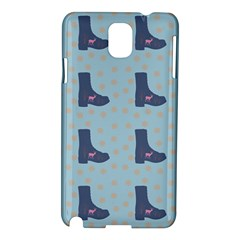 Deer Boots Teal Blue Samsung Galaxy Note 3 N9005 Hardshell Case by snowwhitegirl
