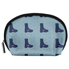 Deer Boots Teal Blue Accessory Pouches (large)  by snowwhitegirl
