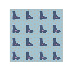 Deer Boots Teal Blue Small Satin Scarf (square) by snowwhitegirl