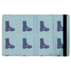 Deer Boots Teal Blue Apple Ipad Pro 9 7   Flip Case by snowwhitegirl